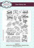 Creative Expressions -  Beautiful Destinations Journaling A5 Clear Stamp Set - CEC871